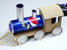 Cara Membuat Miniatur Kereta Api Mudah Dari Bahan Bekas